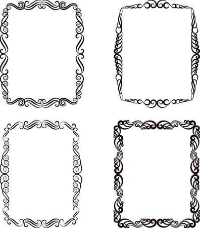 set of ornamental frames Иллюстрация