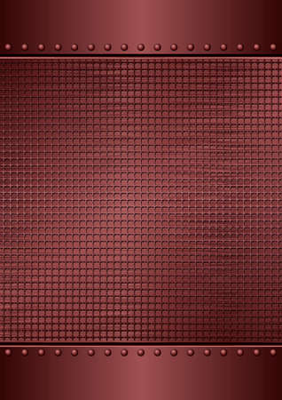 Dark Red Textured Metallic Background With Copy Space Иллюстрация