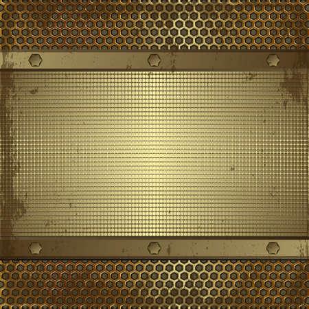 grunge texture, golden metallic background