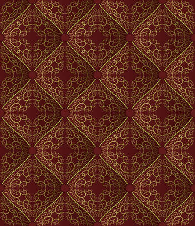 vintage bacground with golden ornament, seamless pattern