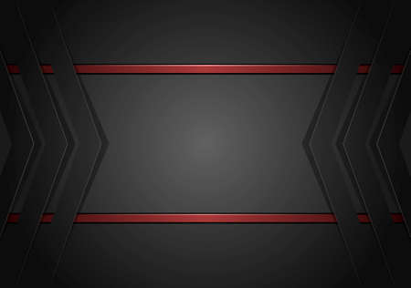 black abstract geometric beckground with copy space Иллюстрация