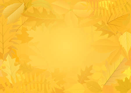 autumnal background with shapes leaves Иллюстрация