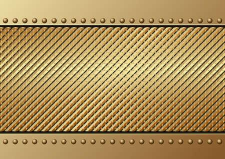 Golden Textured Metallic Background
