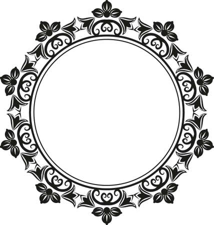 floral frame silhouette