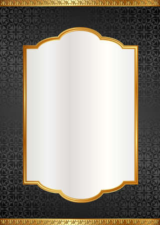 ornate background with old-fashioned patterns and elegant frame Иллюстрация