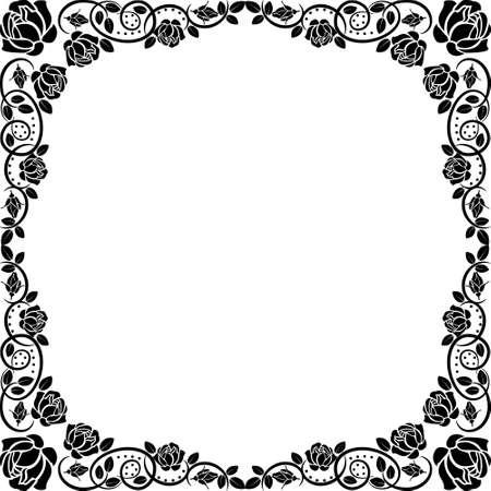 rose frame silhouette
