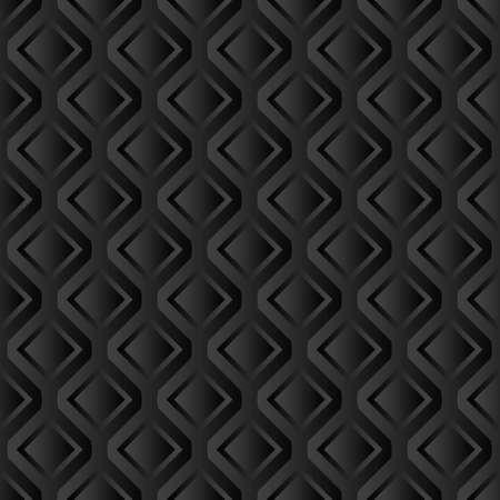 black background with geometric shapes, seamless pattern Иллюстрация