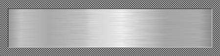 long metallic textured plaque