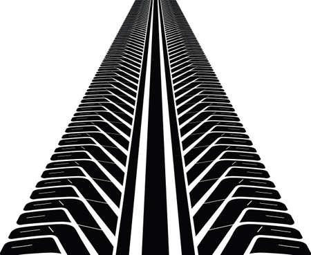 tire track silhouette Illusztráció