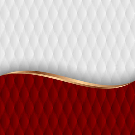 red and white abstract background with decorative pattern
