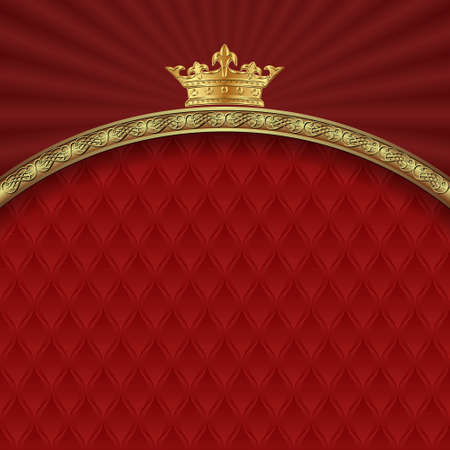 ornate background with golden border and crown