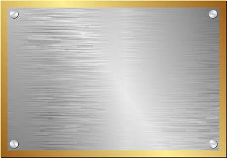 metal plaque with golden border