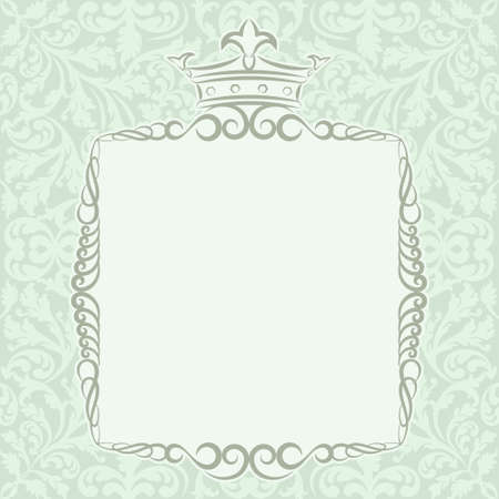 kingly frame with crown