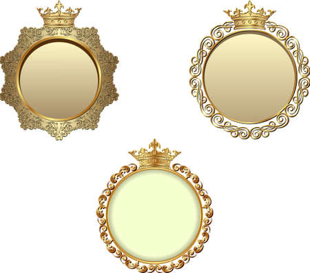 isolated kingly frames with crown