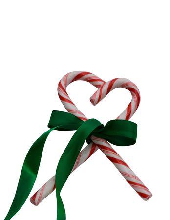 shaped: heart shaped candy cane Stock Photo