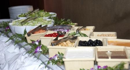 Buffet style salad bar Archivio Fotografico