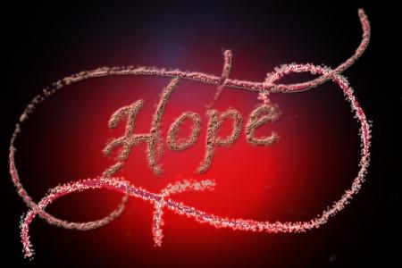 Speranza manoscritta Archivio Fotografico - 15067970