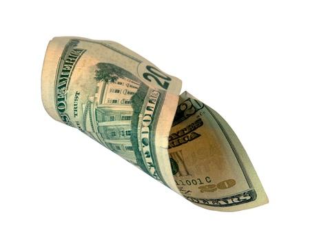 valued: Twenty Dollar Bill isolated on white background