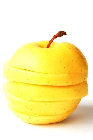 sliced apple: sliced apple yellow