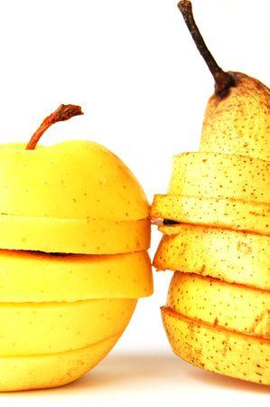 sliced apple: sliced apple and pear