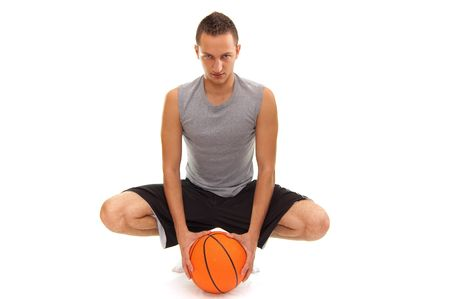 basketball player with ball, isolated on white, simmilar images in my portfolio Stock Photo - 5440924
