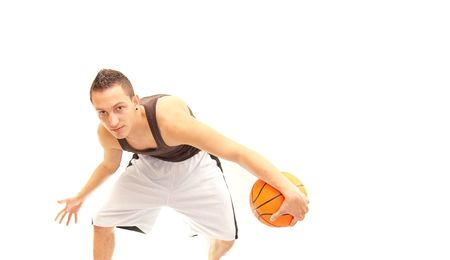 a basketball player doing what he does best Stock Photo - 5440930