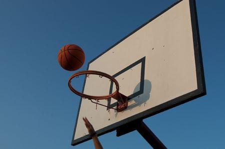 scores: basketball player scores! Stock Photo