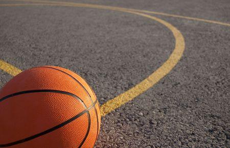 photo of a orange basketball Stock Photo