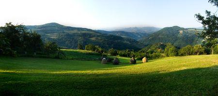 serbia landscape: a panorama view of a beutiful landscape in serbia