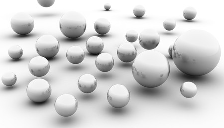 abstract spheres 3d image. (look for simmilar images in my portfolio)