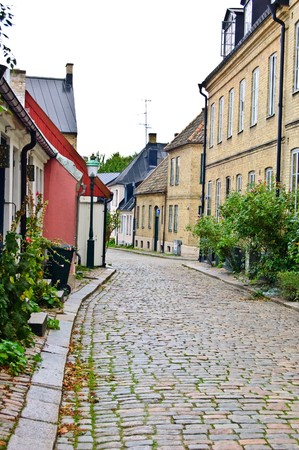 picture showing a old street in sweeden