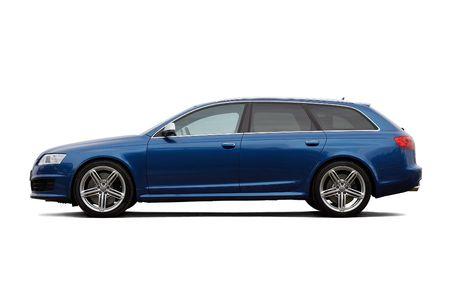 custom car: High performance  estate car isolated on black Editorial