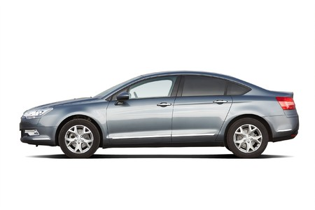 Modern sedan isolated on white Editorial