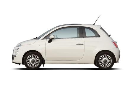 Witte reflector stijl compact hatchback Redactioneel