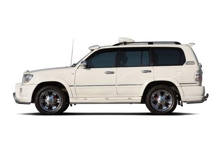 tuned: Tuned luxury SUV isolated on white