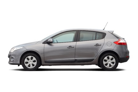 Modern hatchback isolated on white Editorial