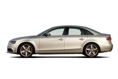 car side: Compact luxury business sedan isolated on white Editorial