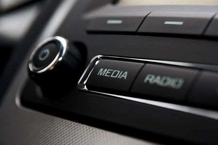 Detail van de auto radio