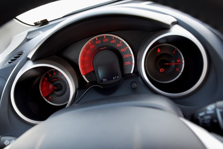 Modern car dashboard with moving arrows Stock Photo - 4449586