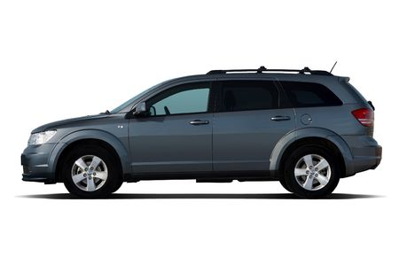 Side view of dark-blue crossover isolated on white Stock Photo - 4627406