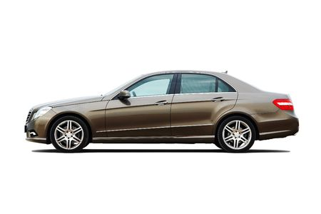 side views: Modern luxury business sedan isolated on white background