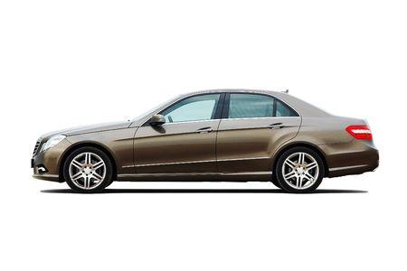 Modern luxury business sedan isolated on white background