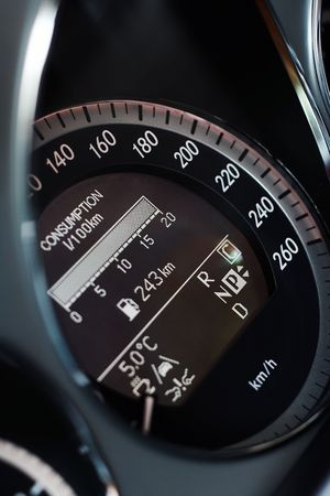 Fast car speedometer closeup detail Stock Photo - 5322661