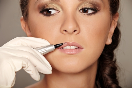 Professional permanent makeup applying Stock Photo - 8251847