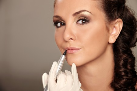 brow: Professional permanent makeup applying