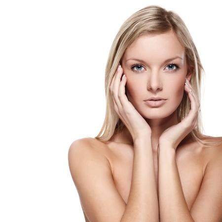 Portrait of beautiful female model on white background Stock Photo - 8388029