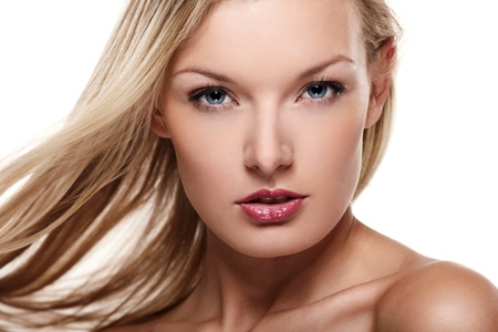 Portrait of beautiful female model on white background Stock Photo - 8388028