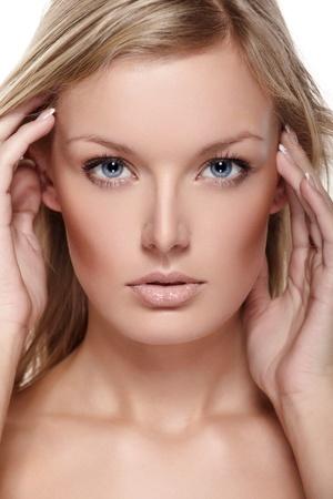 Portrait of beautiful female model on white background Stock Photo - 8900561