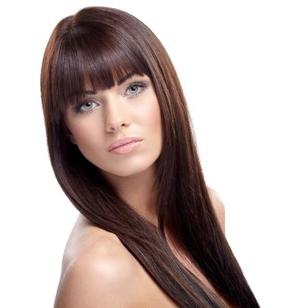 Portrait of beautiful female model on white background Stock Photo - 16824571