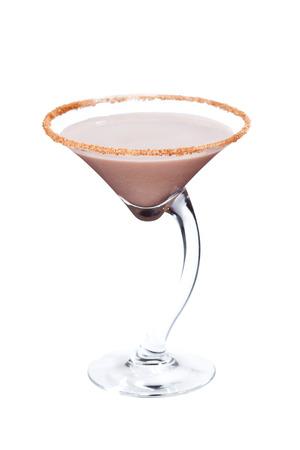 amaretto: Cinnamon amaretto coctail isolated on white background